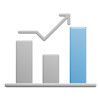Icon of bar graph.
