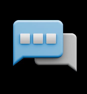 Icon of dialog boxes.