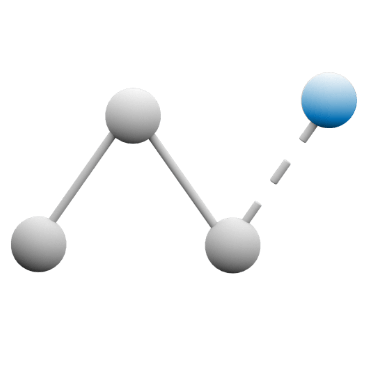 Icon representing a line graph.