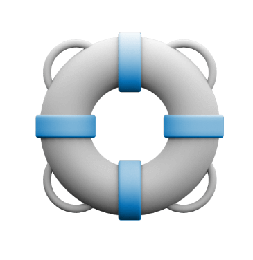 Icon of life raft.