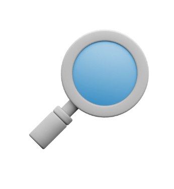 Icon of magnifying glass.