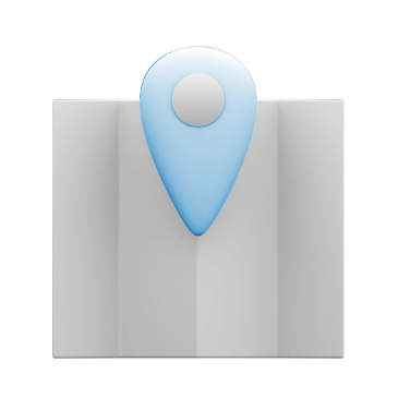 Icon of folding map with pin.